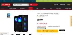 PC Actina SG1X 10100F / 16GB / 512GB / GTX1660S / 500W