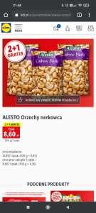 ALESTO Orzechy nerkowca 2+1 gratis w Lidlu
