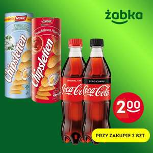 Coca Cola 0,5l i Chipsy Chipsletten 100g za 2zł/szt przy zakupie dwóch - Żabka