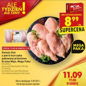 Filet z piersi kurczaka, pakowany próżniowo (cena za kg)