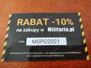 -10% w Militaria.pl (działa również na przecenę)