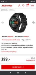 Smartwatch Huawei watch gt2e czarny