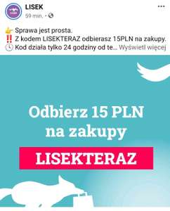 15 zł rabatu na zamówienie | LISEK (nowy kupon, działa też u obecnych klientów)