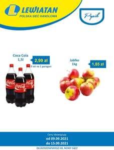 Coca Cola 1.5l za 2.99zł i Jabłka 1.85zł/kg - Lewiatan Nowy Sącz