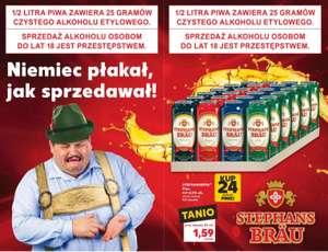 1 puszka piwa Stephans Brau - stacjonarnie w sklepach Kaufland przy zakupie 24 sztuk
