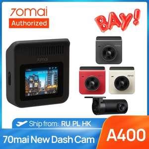 Wideorejestrator 70mai A400 z tylną kamerą. Wysyłka z PL. $44.67
