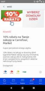 CARREFOUR: -10% na zakupy z kuponem w apce mój Carrefour