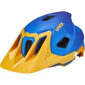Kask rowerowy UVEX Quatro Integrale niebieski/pomarańczowy