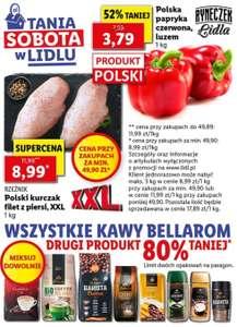 Filet z piersi polskiego kurczaka - 8,99 zł/kg*, wszystkie kawy Bellarom - druga 80% taniej, polska papryka czerwona - 3,79 zł/kg