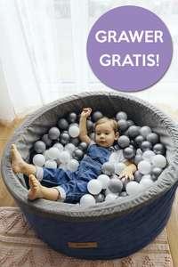 Basen z piłeczkami dla dzieci Flumi 200 piłek, grawer z imieniem gratis