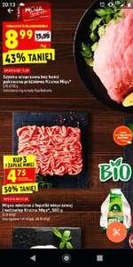 Biedronka; mięso mielone z łopatki wieprzowej i wołowiny 500g przy zakupie 3opak