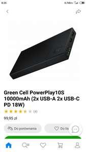 Green Cell PowerPlay10S 10000mAh (2x USB-A 2x USB-C PD 18W)