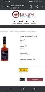 Whisky Bourbon Evan Williams 0,7 L - La Cave - Ursynów - Warszawa