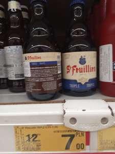 Piwo belgijskie St Feuillien Triple w Auchan Piaseczno