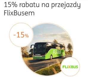 Kupon na -15% na bilety Flixbus od ING