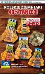 Wszystkie polskie ziemniaki w opakowaniach -40% taniej