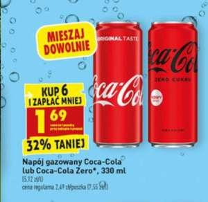 Coca-Cola Orginal i Zero 330ml @Biedronka