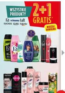 Kosmetyki fa, shauma, taft, glyss, sayoss, Palette 2+1 gratis w Biedronce