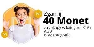 +40 Monet przy zakupie za min. 500 zł w kategorii RTV, AGD i Fotografia @Allegro