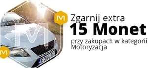+15 Monet przy zakupach od 200 zł w kategorii Motoryzacja - Allegro