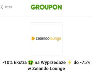 10% rabatu Zalando Lounge z kuponem Groupon 250 MWZ