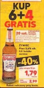 Piwo Żywiec 0,5 l 5,6 % przy zakupie 10 butelek butelka zwrotna @Kaufland