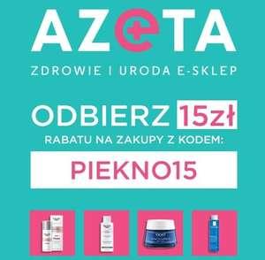 AZETA Zdrowie i Uroda Kosmetyki Sumplementy RABAT 15 PLN / MWZ 35 zł / DD od 99 zł