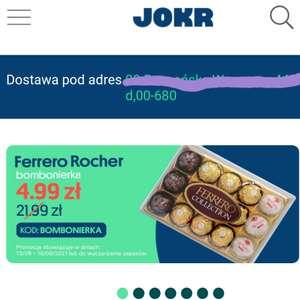 Ferrero Rocher obniżka z 21,99 na 4,99 na apce Jokr Warszawa