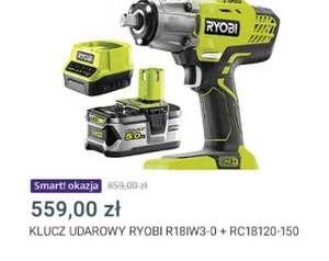 Klucz udarowy Ryobi R18IW3 + 5Ah