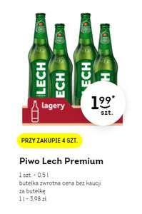 Piwo Lech Premium (Butelka, 0.5L) - 1.99 zł przy zakupie 4 sztuk w sklepie Żabka