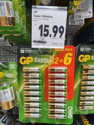 Baterie AAA GP 18 sztuk Kaufland