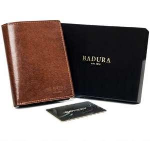 Elegancki duży portfel skórzany Badura