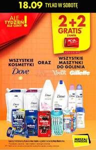 Wszystkie kosmetyki Dove oraz wszystkie maszynki do golenia Gillette oraz Gillette Venus 2+2 gratis @Biedronka
