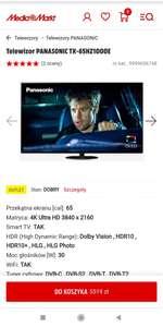 Telewizor OLED Panasonic 65HZ1000E (outlet - nowy)