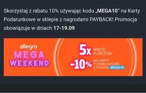 PAYBACK - mega weekend z Allegro -10% na karty 5x więcej punktów