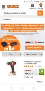 Einhell, zestaw startowy Power X-change za 1zl przy zakupie urządzenia - tym razem OBI