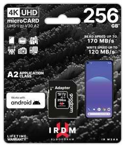 Karta pamięci GoodRam microSDXC IRDM 256GB V30 A2 170/120Mb/s (nowa wersja)