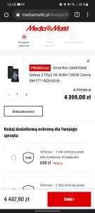Smartfon SAMSUNG Galaxy Z Flip3 4799zł (możliwe 3399zł z kartami)
