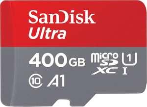 Karta pamięci SanDisk Ultra 400 GB microSDXC A1 + adapter SD (w Amazon.de 34,1 € tj. ok. 156 zł + ew. wysyłka 5,99€, od 39€ dostawa 0 zł /€)