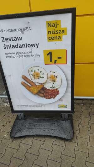 Śniadanie za 1 PLN w IKEA od poniedziałku do piątku w godzinach 8:00-9:00