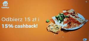 Pyszne.pl do 15% zwrotu (cashback)