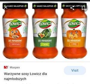 Sosy Łowicz do spaghetti 500g/350g pomidorowe 100% naturalne dla dzieci i nie tylko @Biedronka