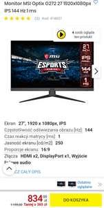 Monitor MSI Optix G272 27 cali