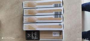LIDL widelce drewniane 20szt 0,99zł wcześniejsza cena to 4zł