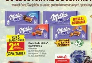 Przy zakupie 3 szt czekolada Milka taniej w Biedronce