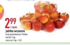 Jabłka wczesne worek 2kg 1kg=1,50zł \Leclerc\