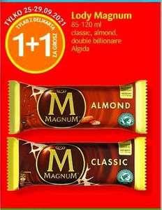 Lody Magnum 1 + 1 za 1 grosz   Lody na patyku 1 + 1 za 1 grosz   Lody Happy Twist 1 + 1 za 1 grosz @Delikatesy Centrum