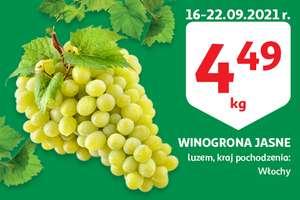 Winogrono jasne cena za kg w auchan