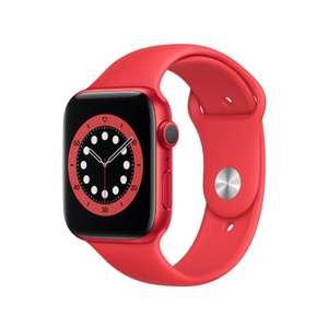 SmartWatch APPLE Watch Series 6 GPS Koperta 44 mm z aluminium w kolorze RED z paskiem sportowym w kolorze RED