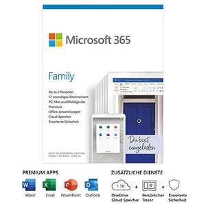 Office 365 family 6 użytkowników + 1TB OneDrive dla każdego